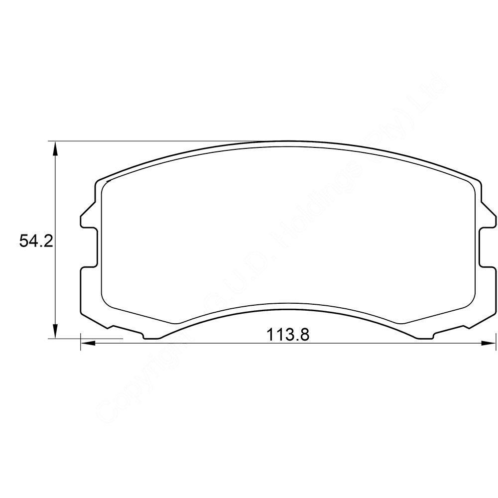 KBC Brake Pads (front) for,Mitsubish 1