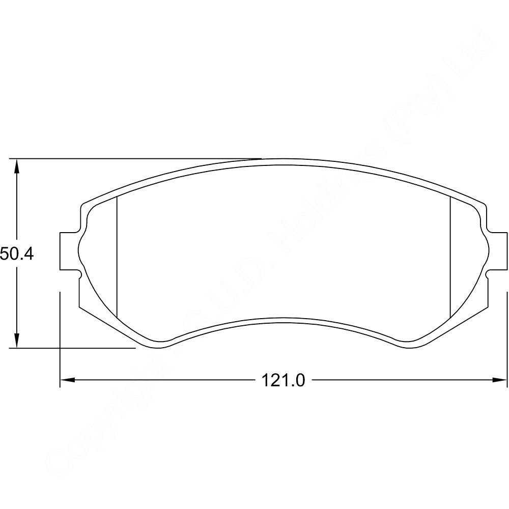 KBC Brake Pads (front) for,Nissan 1