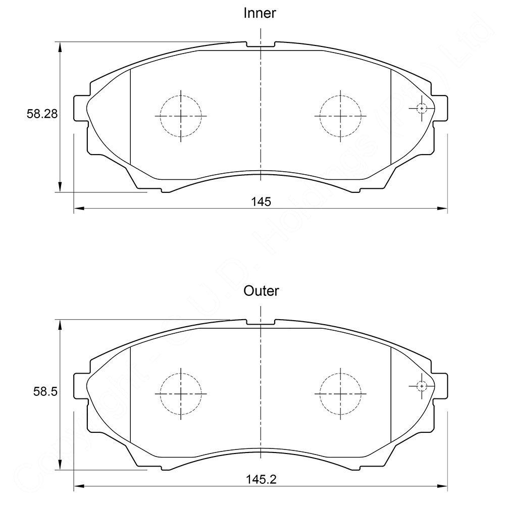 KBC Brake Pads (front) for,Ford Ranger 1