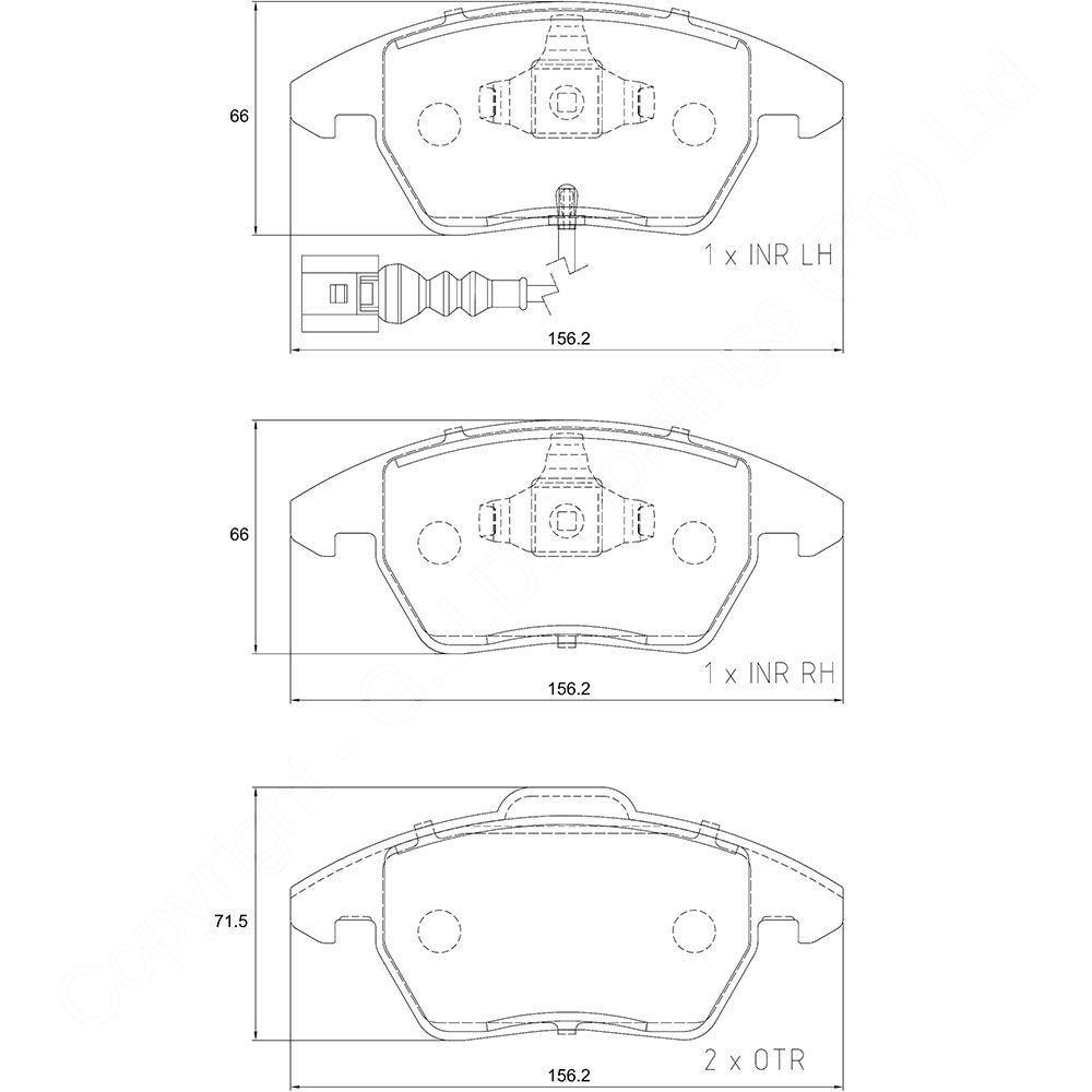 KBC Brake Pads (front) for,VW 1