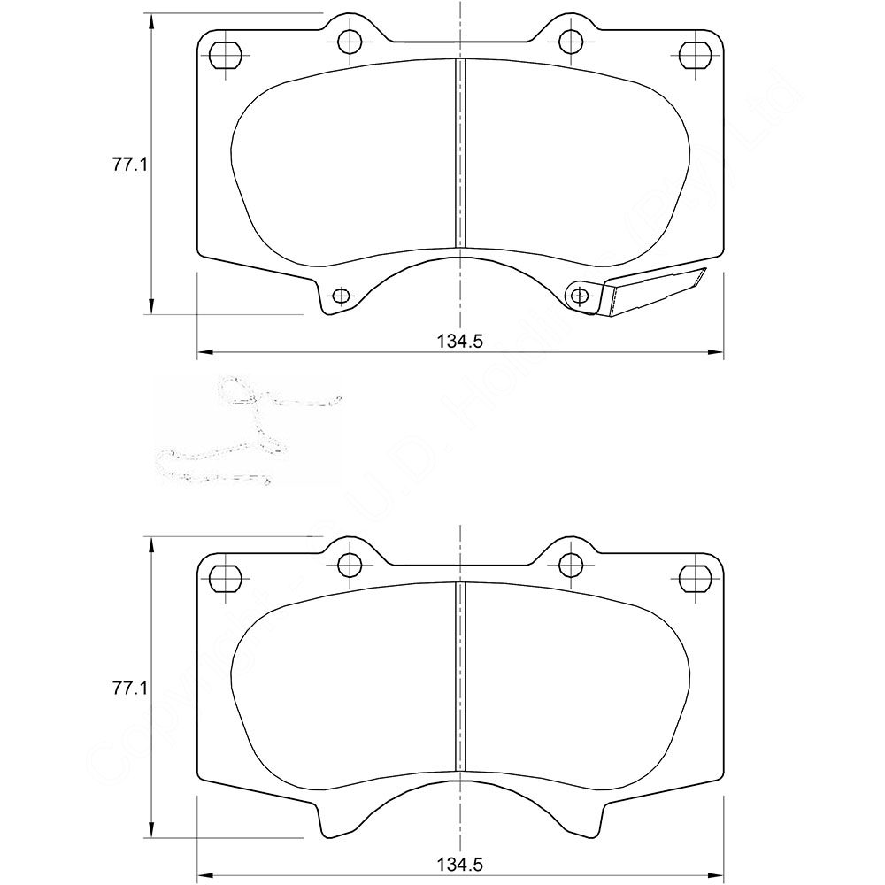 KBC Brake Pads (front) for,Toyota 1
