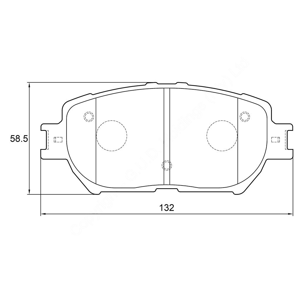 KBC Brake Pads (front) for Toyota 1