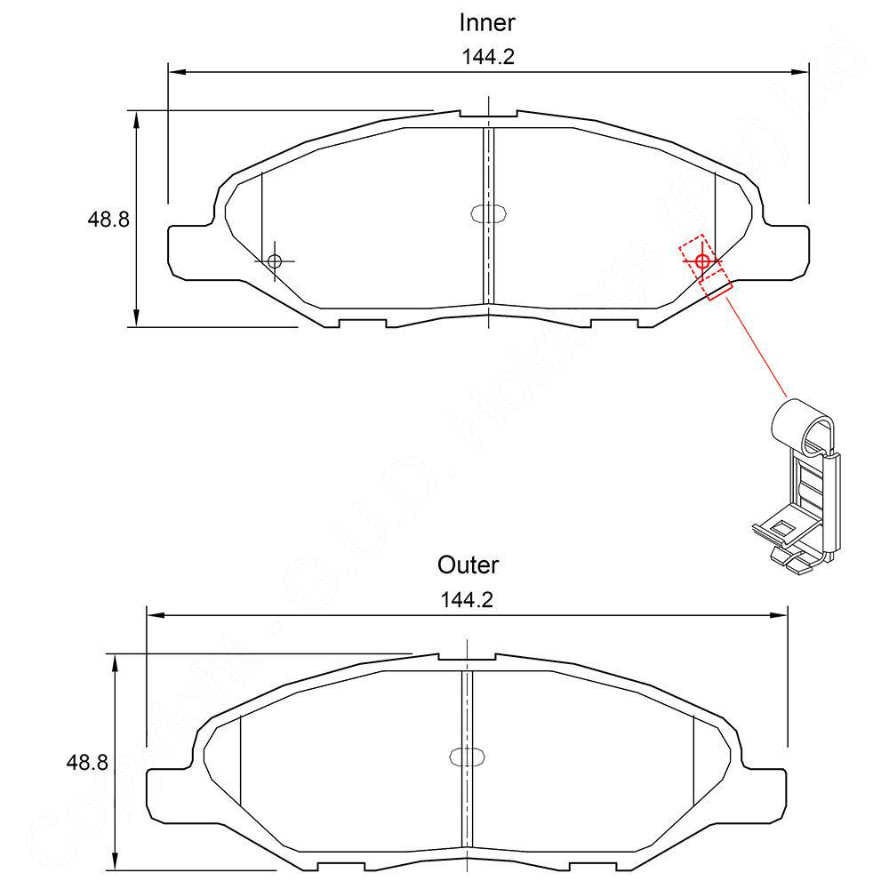 KBC Brake Pads (front) for Nissan 1