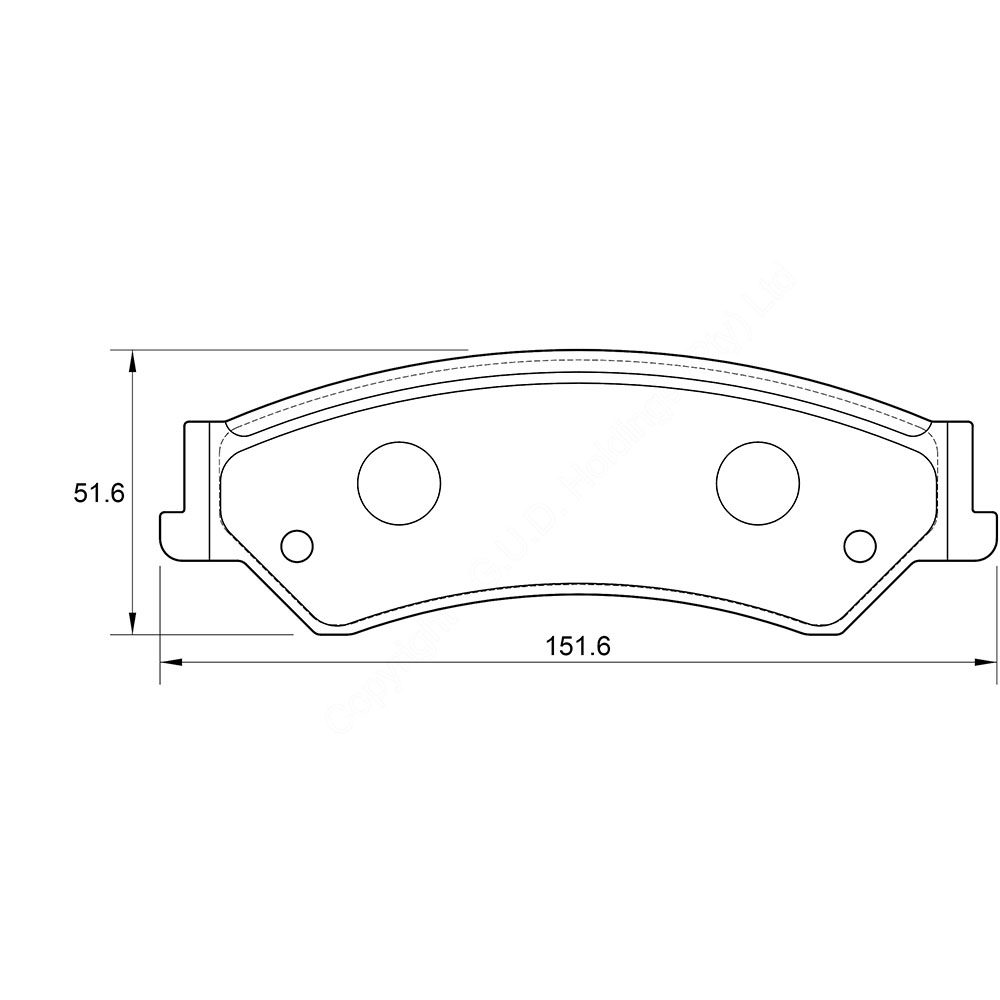 KBC Brake Pads (front) for Ford 1
