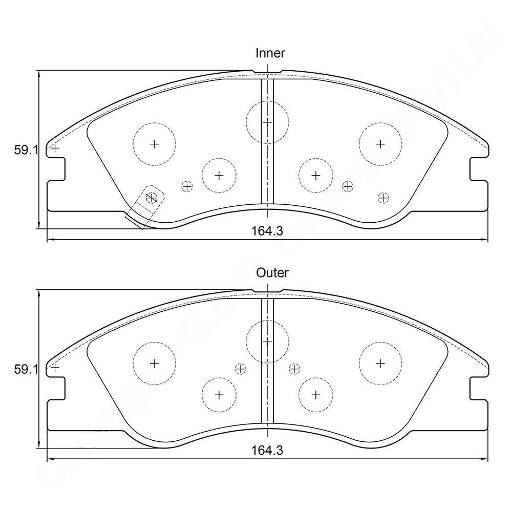 KBC Brake Pads (front) for Kia 1