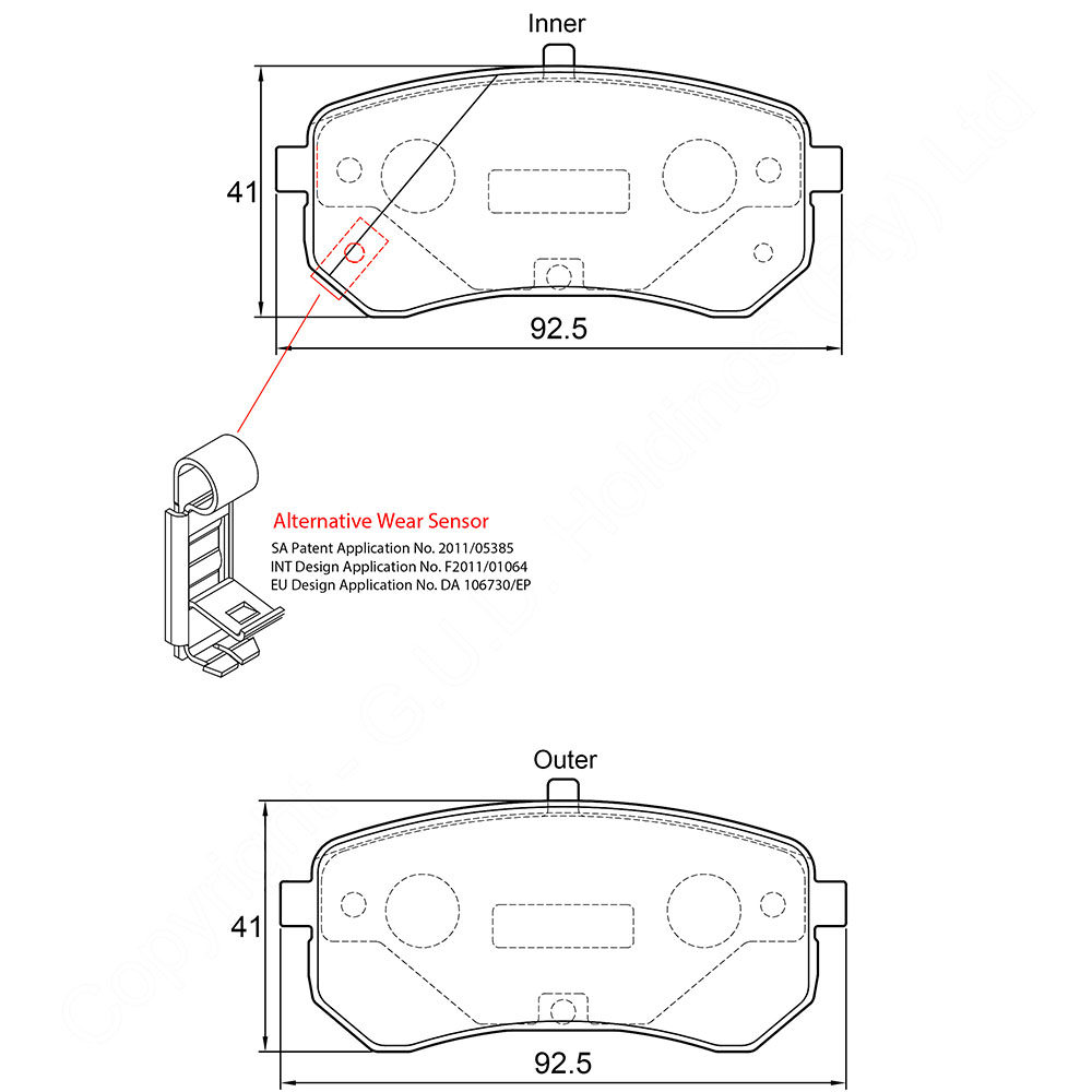 KBC Brake Pads (front) for Kia 1