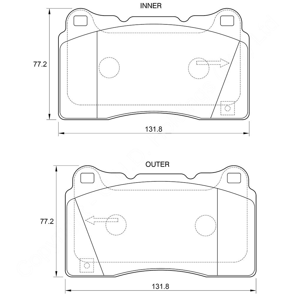 KBC Brake Pads (front) for Mitsubishi 1