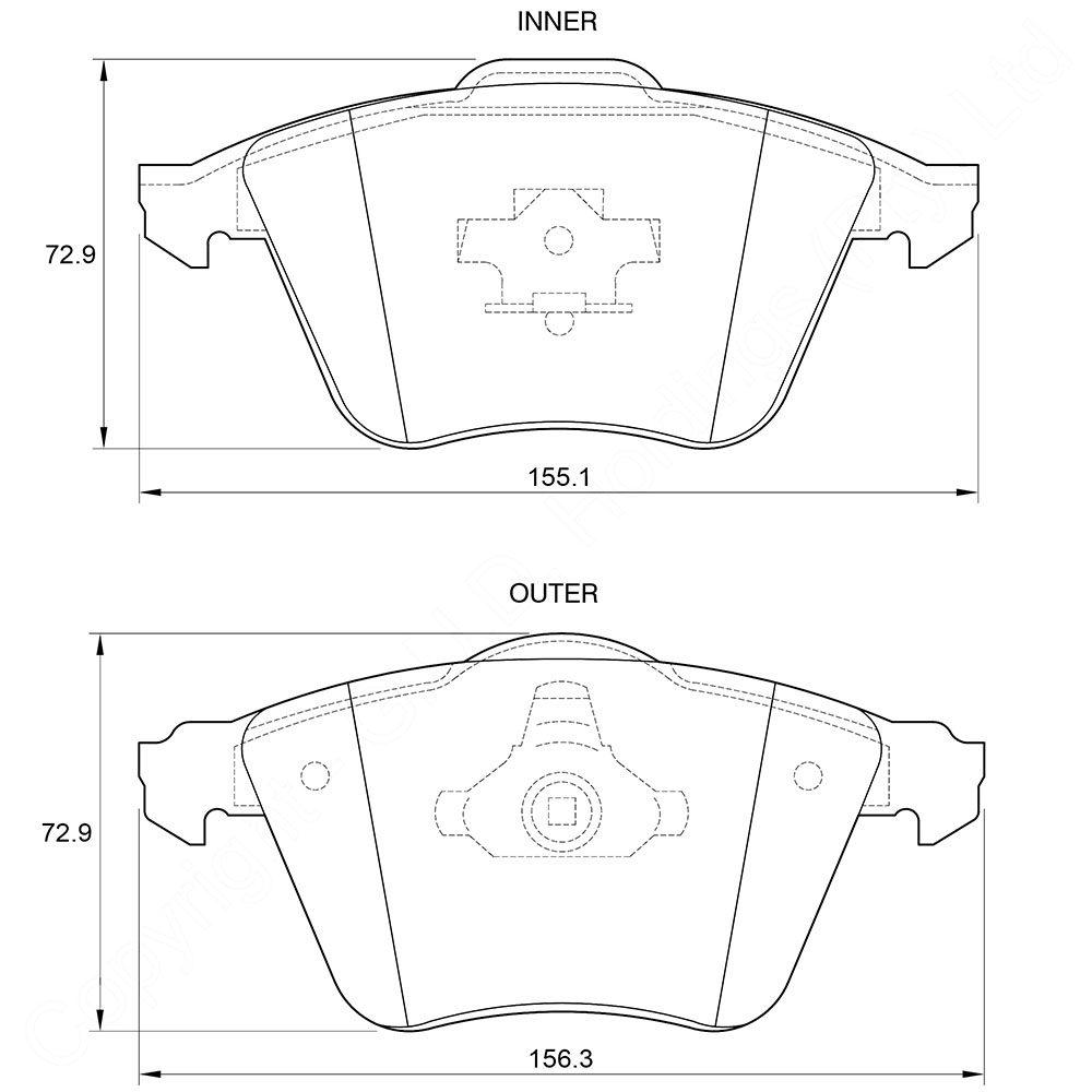KBC Brake Pads (Front) for Audi, VW 1