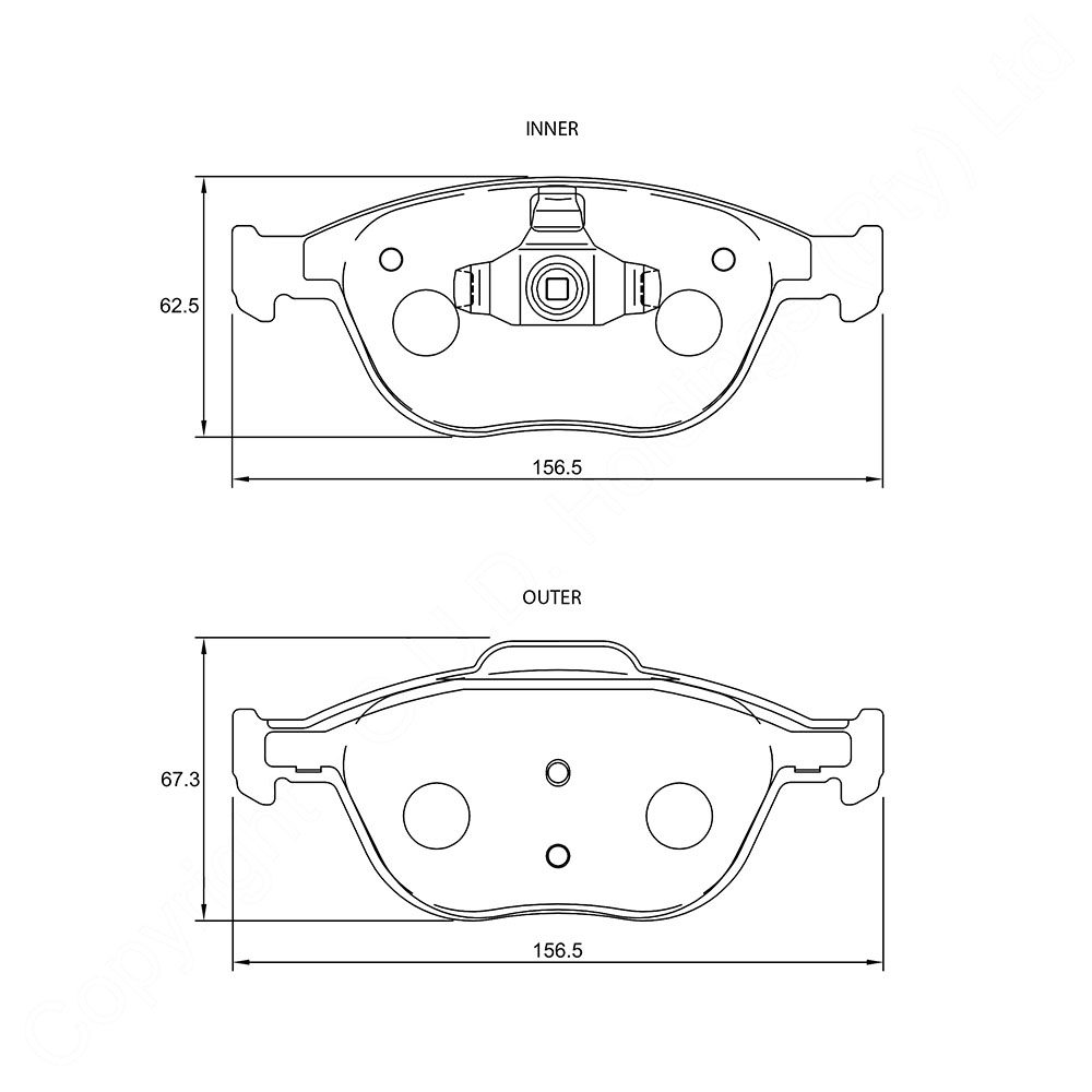 KBC Brake Pads (front) for Ford,MAZA 1