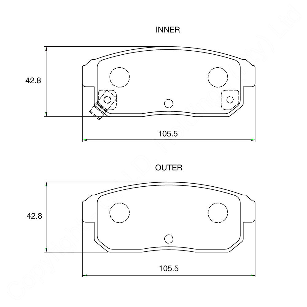 KBC Brake Pads (front) for Mazda 1