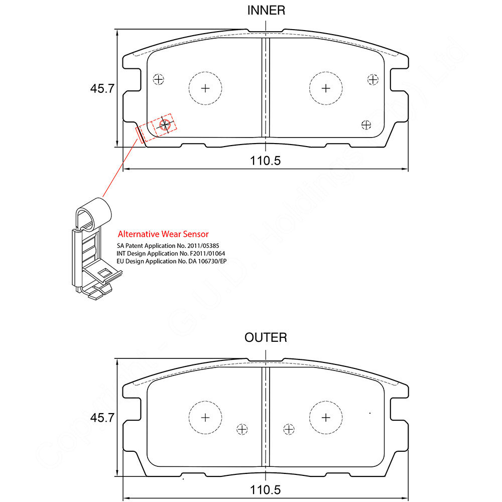 KBC Brake Pads (front) for Chev Captiva 1
