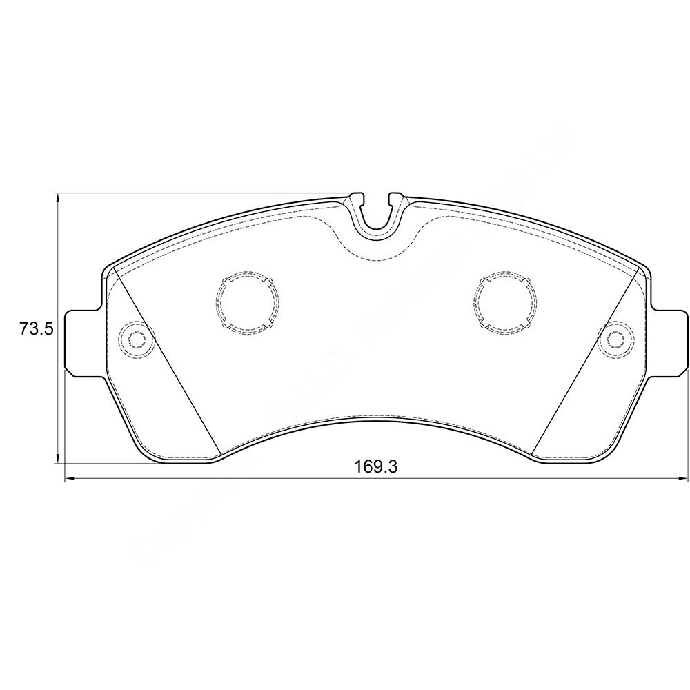 KBC Brake Pads (FRONT) for Mercedes Benz Sprinter 1