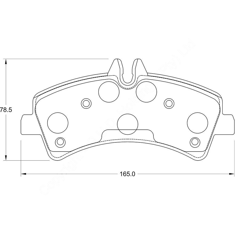 KBC Brake Pads (REAR) for Mercedes Benz Sprinter 1