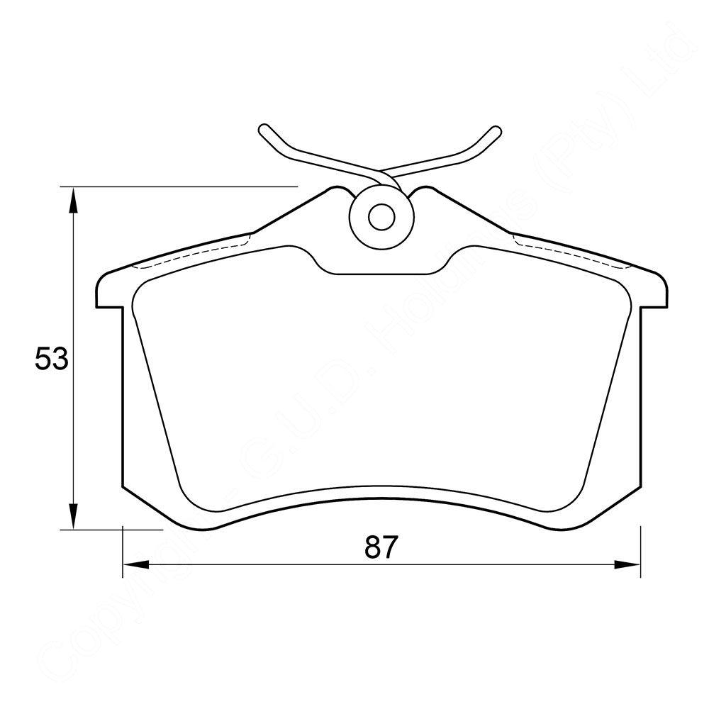 KBC Brake Pads (REAR) for Renault 1