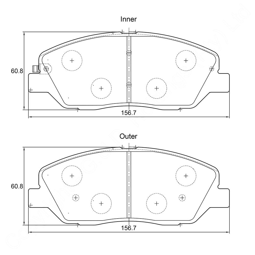KBC Brake Pads (FRONT) for Hyundai 1