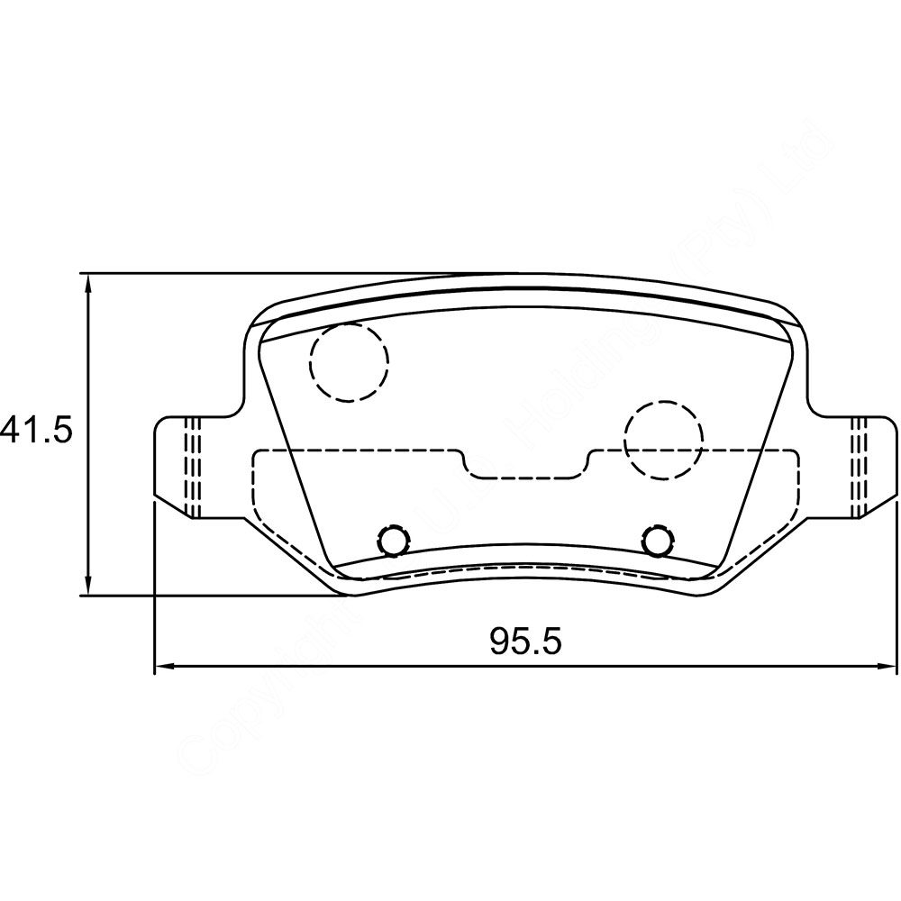 KBC Brake Pads (REAR) for Mercedes 1