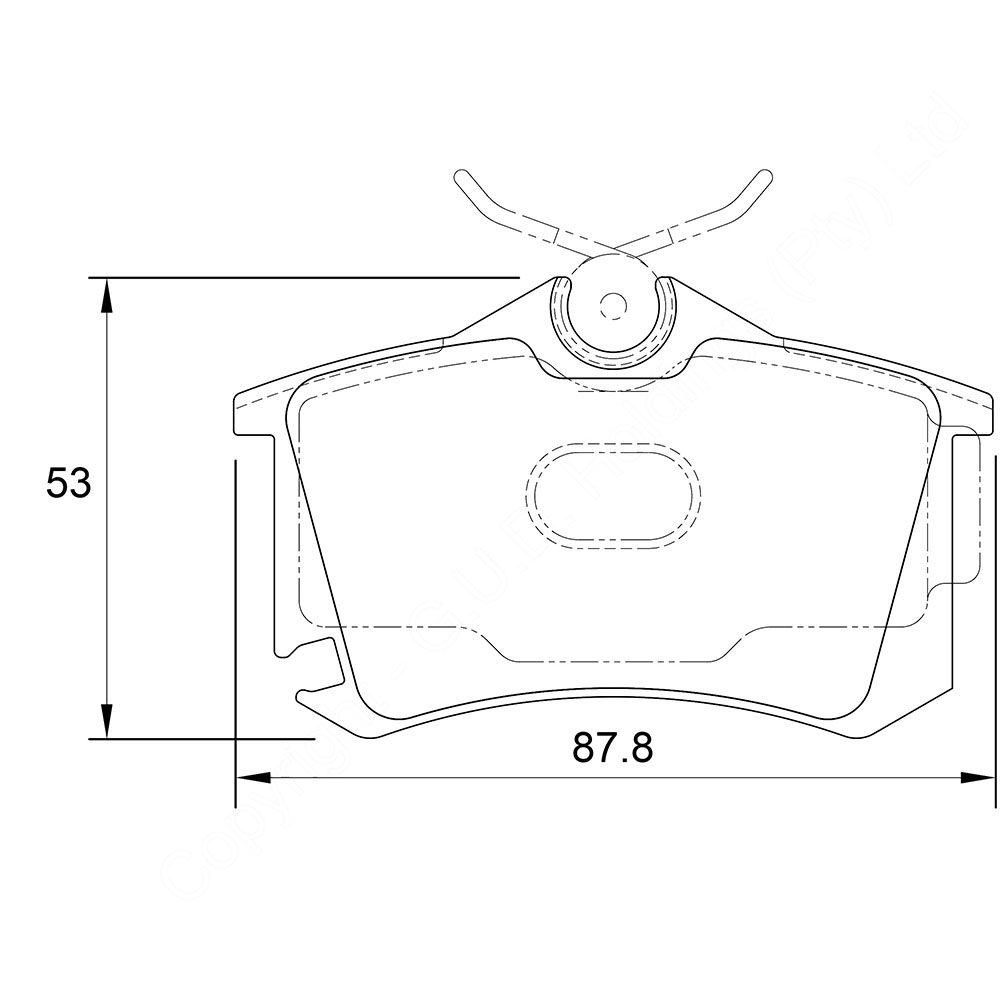 KBC Brake Pads (Rear) for Landrover, Seat, VW 1