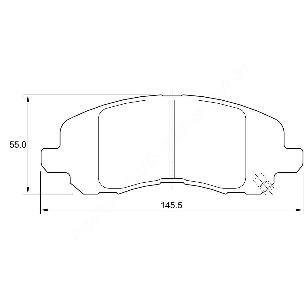 KBC Brake Pads (Front) for Chrysler, Citroen, Dodge, Jeep, Mitsubishi, Peugeot 1