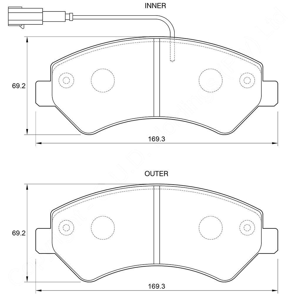 KBC Brake Pads (FRONT) for Peugeot, Citroen 1