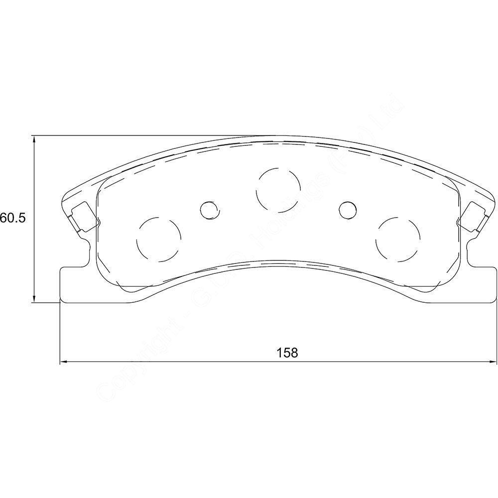 KBC Brake Pads (Front) for Jeep Grand Cherokee 1