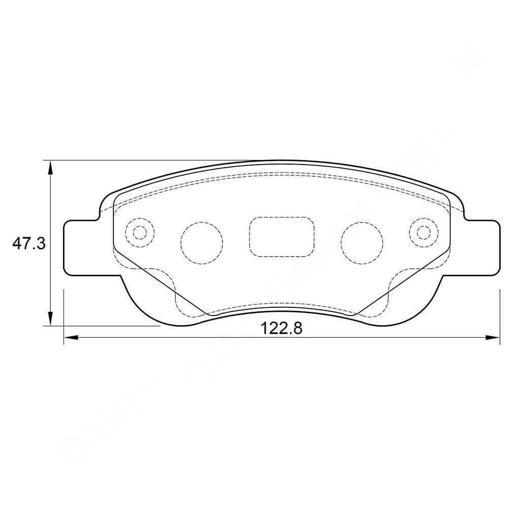 KBC Brake Pads (FRONT) for Citroen 1