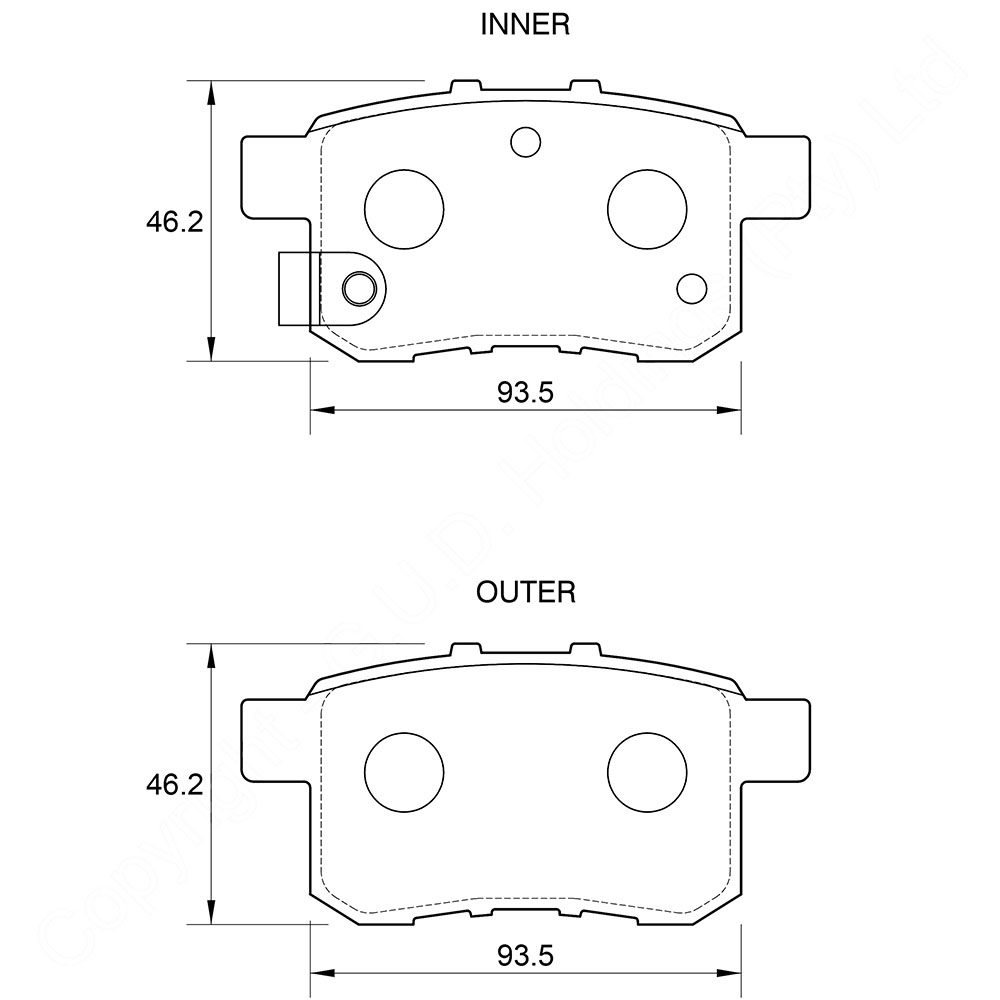 KBC Brake Pads (REAR) for Honda 1
