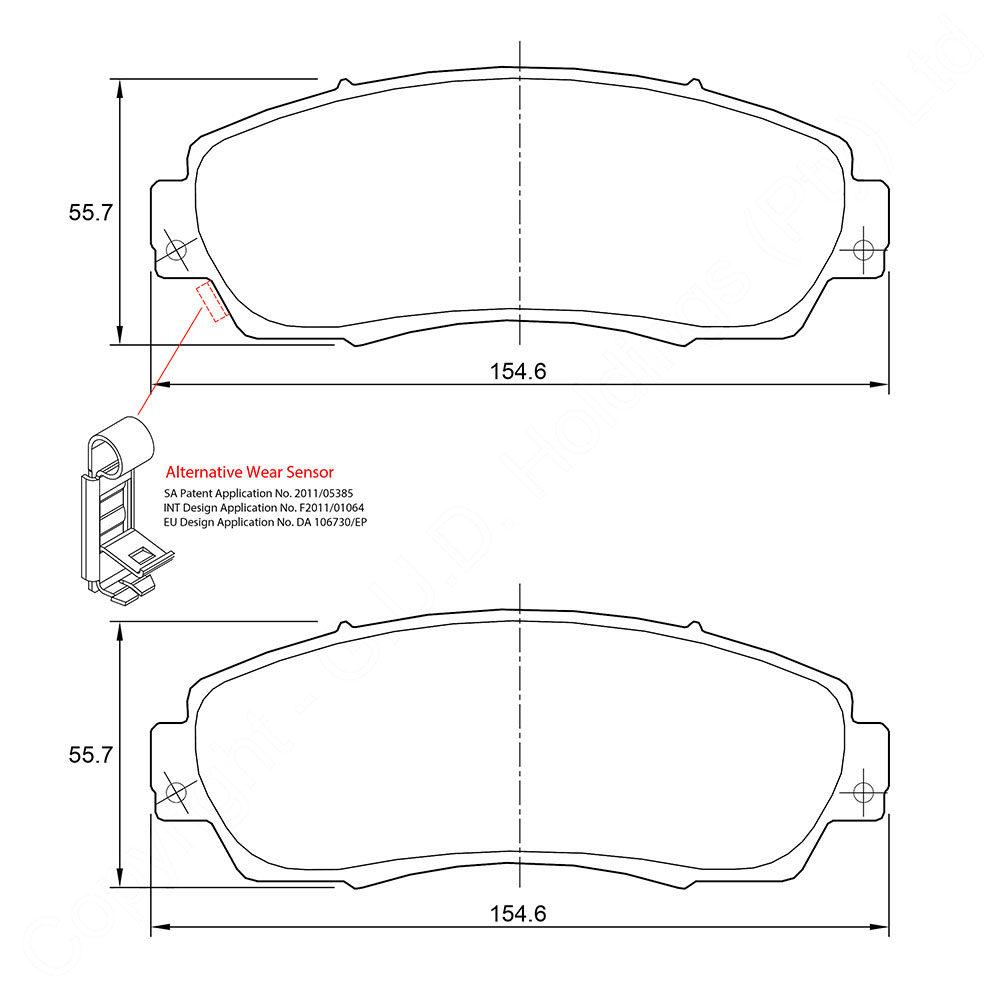 KBC Brake Pads (FRONT) for Honda 1