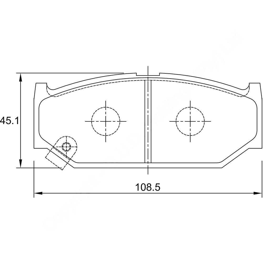 KBC Brake Pads (FRONT) for Suzuki 1