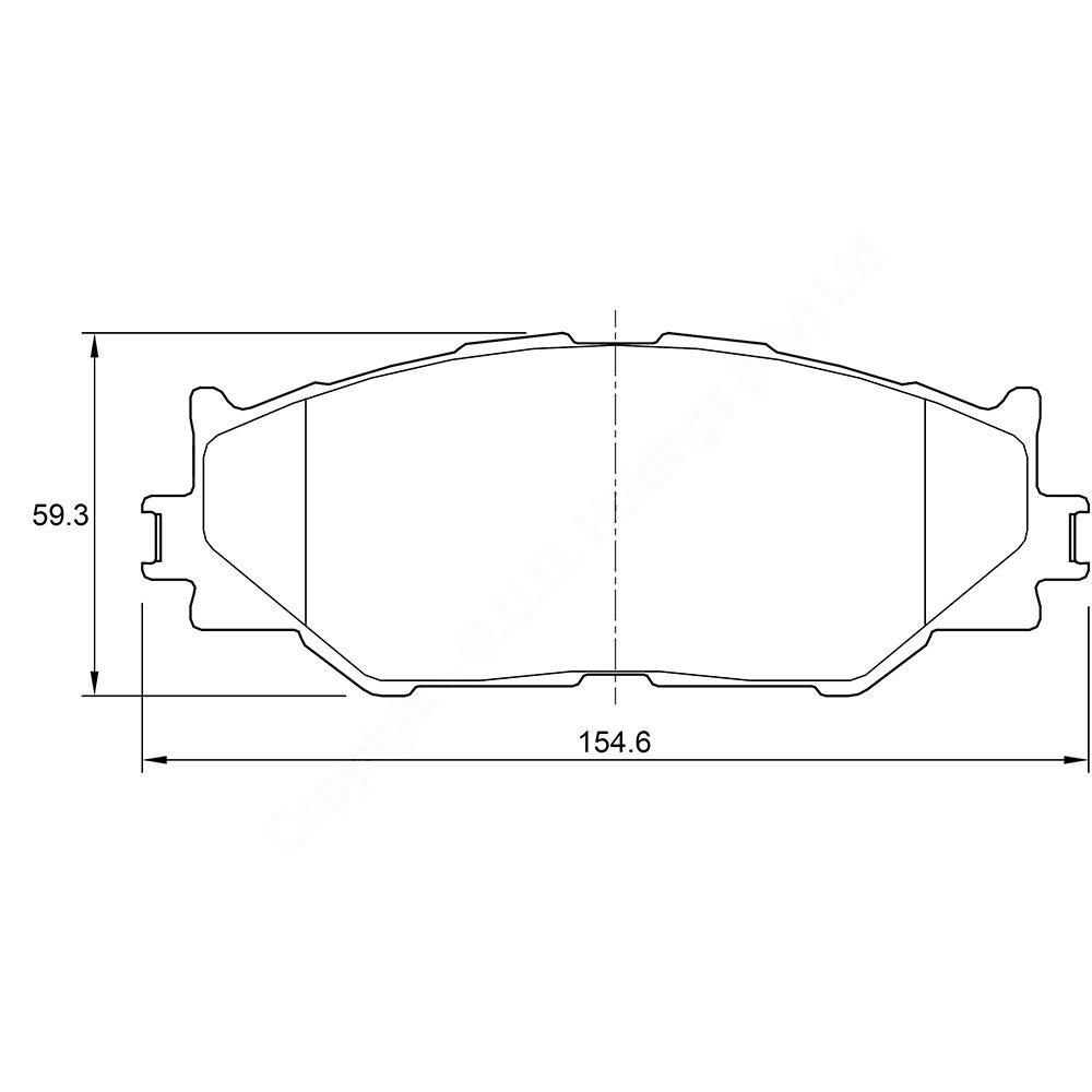 KBC Brake Pads (FRONT) for Lexus 1