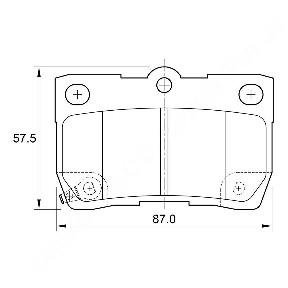 KBC Brake Pads (Rear) for Lexus 1