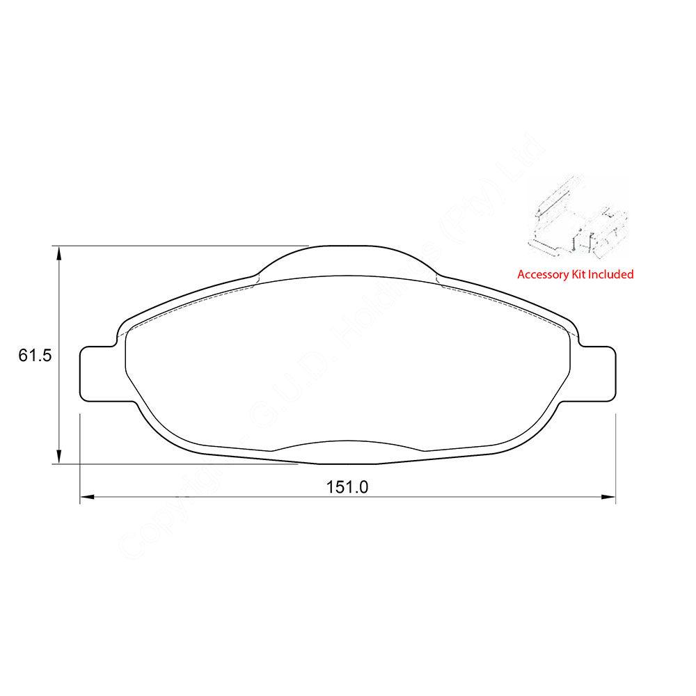 KBC Brake Pads (FRONT) for Peugeot 1