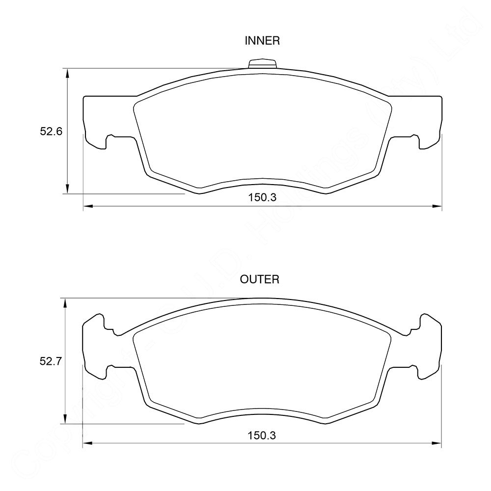 KBC Brake Pads (Front) for Nissan, Fiat 1