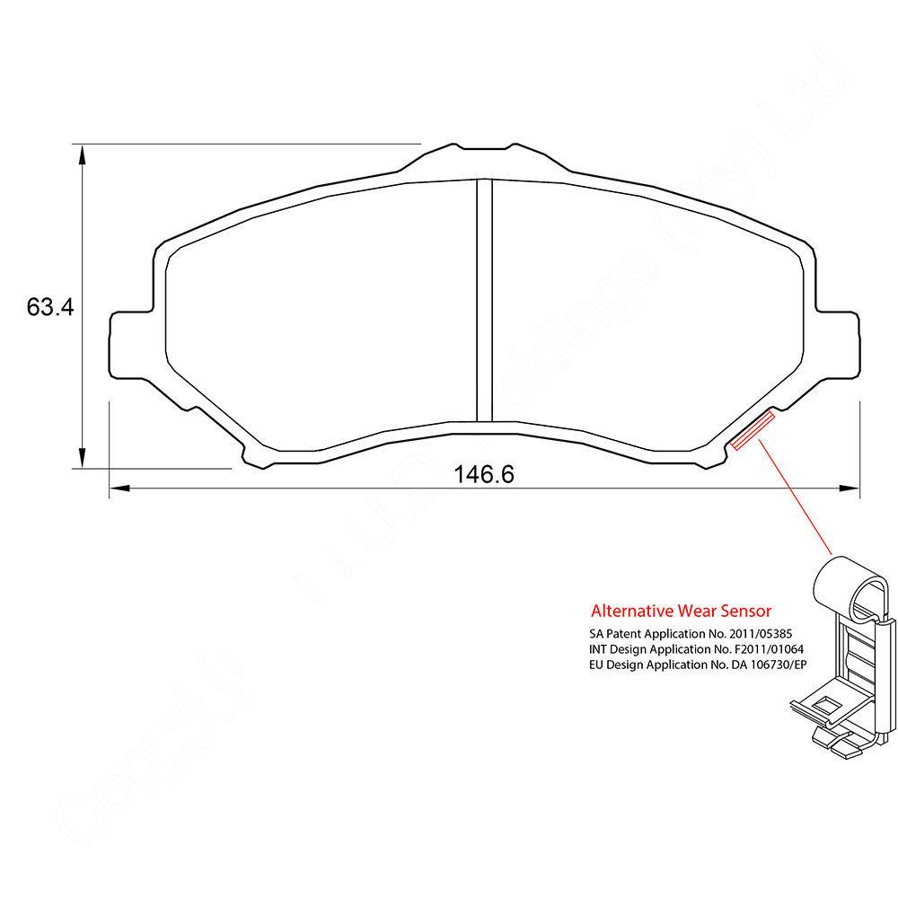 KBC Brake Pads (FRONT) for Dodge 1