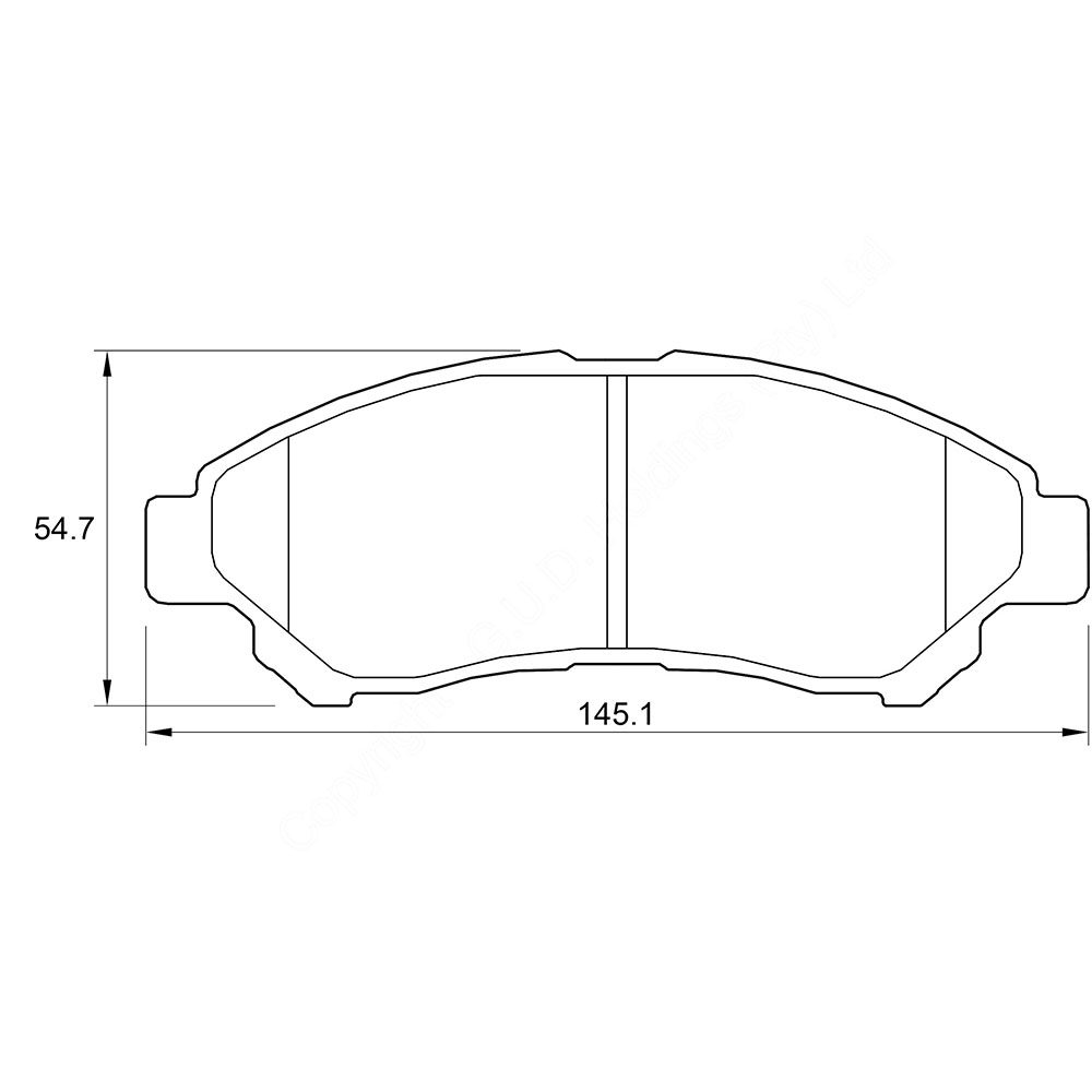 KBC Brake Pads (Front) for Daihatsu GRAN MAX 1