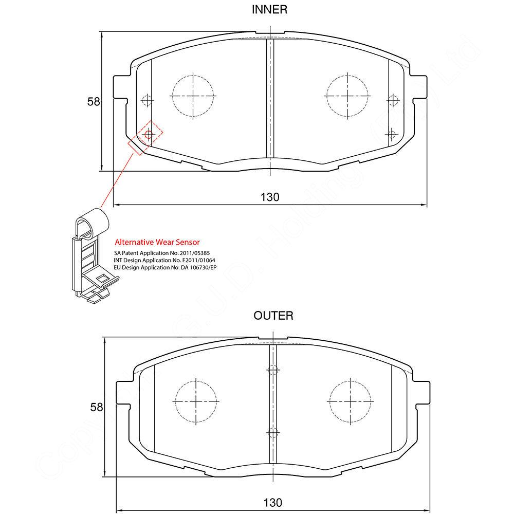 KBC Brake Pads (Front) for Hyundai, Kia 1