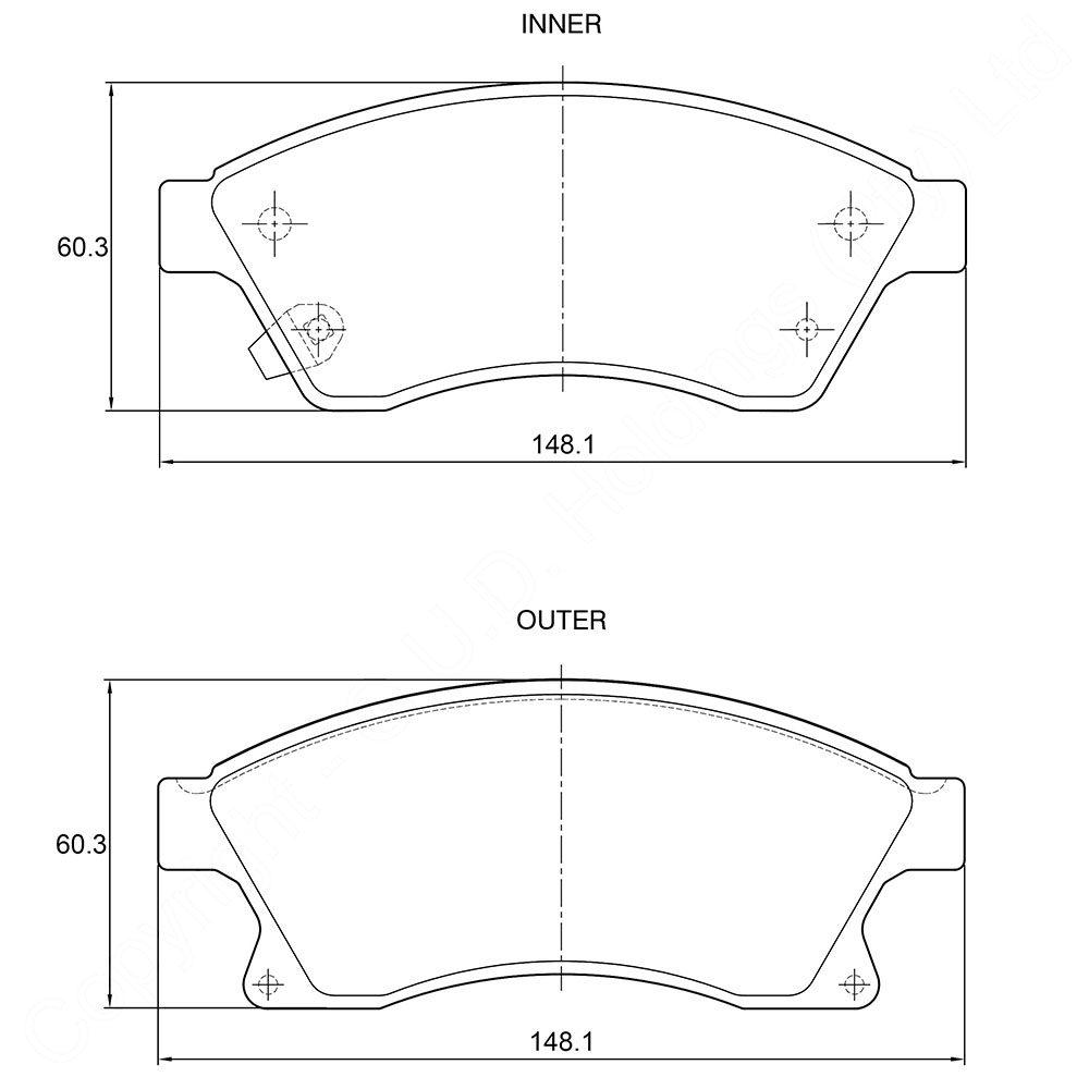KBC Brake Pads (FRONT) for Chevrolet 1