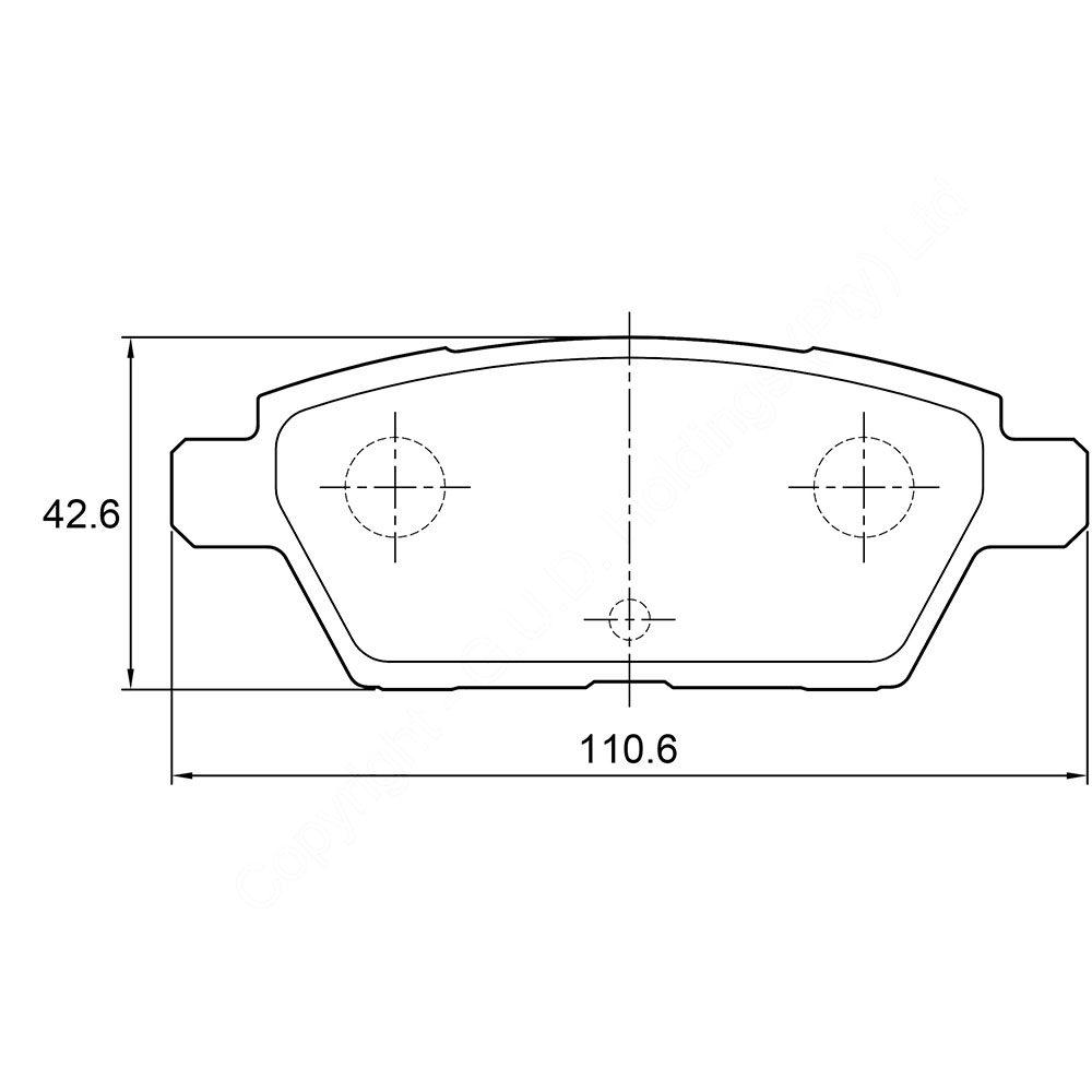 KBC Brake Pads (REAR) for Mazda 1