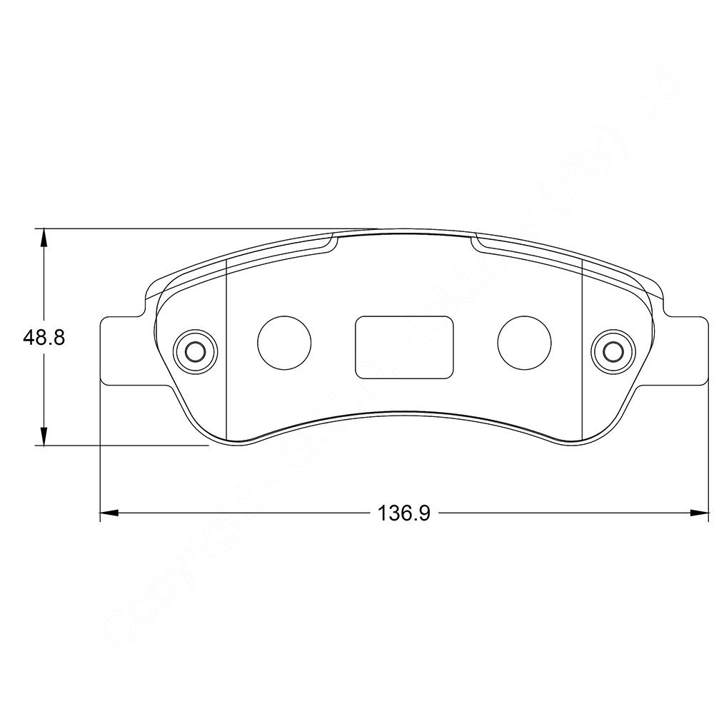 KBC Brake Pads (REAR) for Fiat Ducato 1