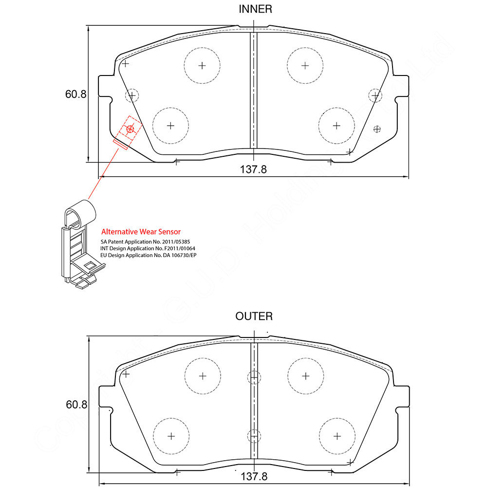 KBC Brake Pads (FRONT) for Hyundai 1