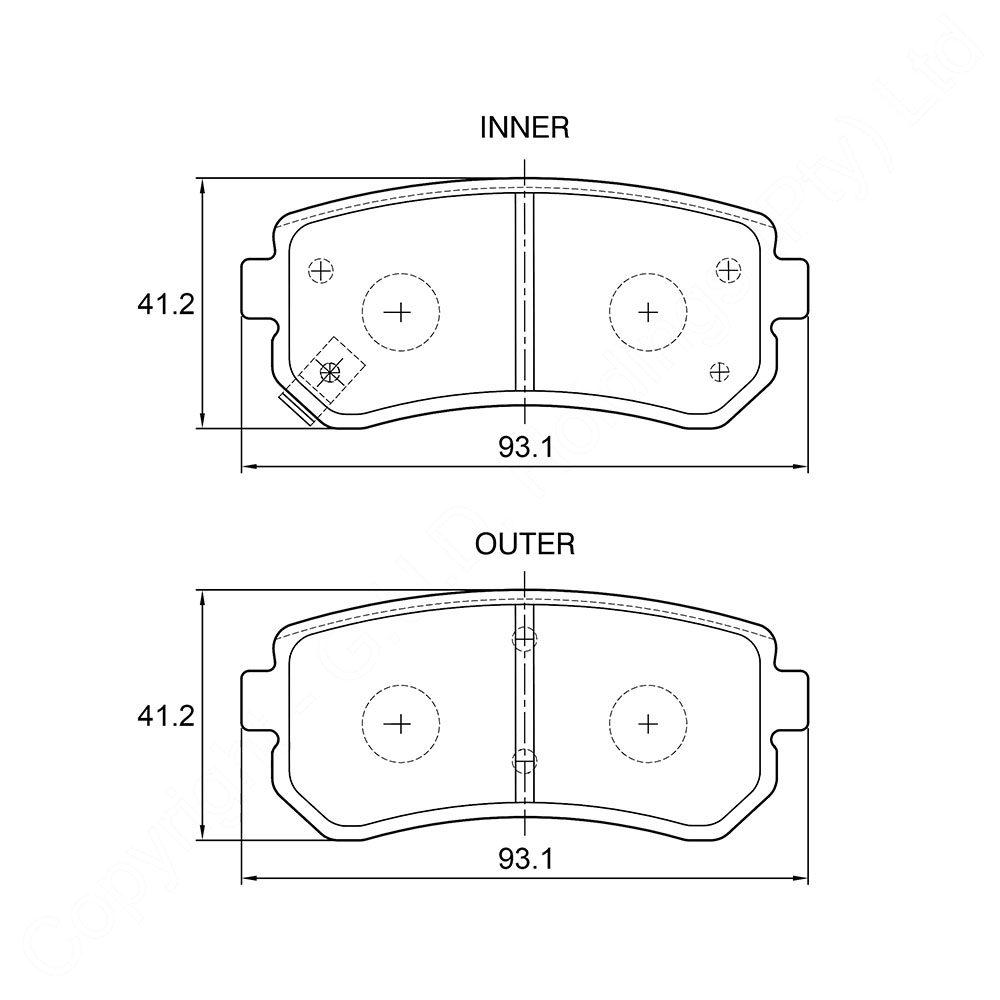 KBC Brake Pads (REAR) for Kia Ceed 1
