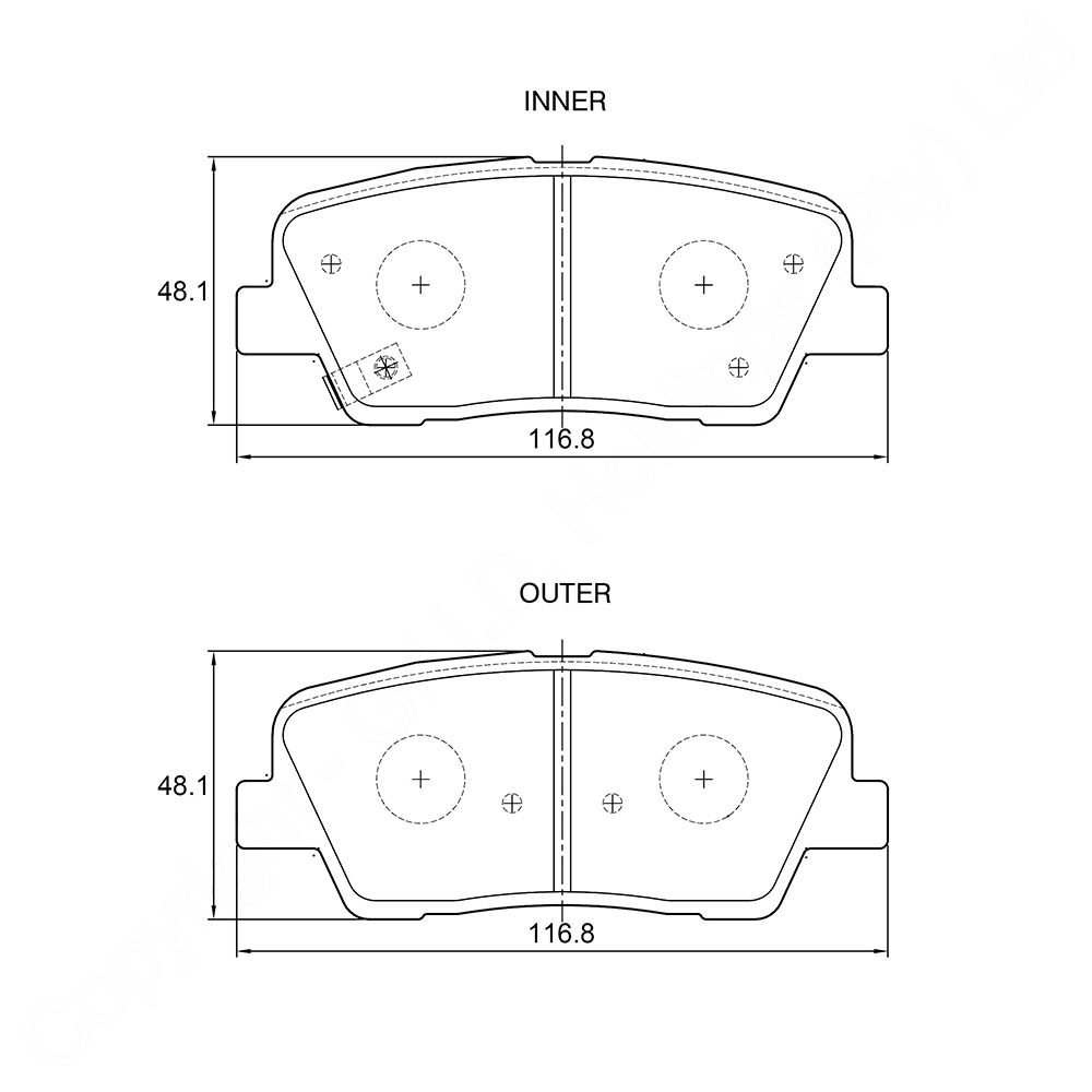 KBC Brake Pads (REAR) for Hyundai 1