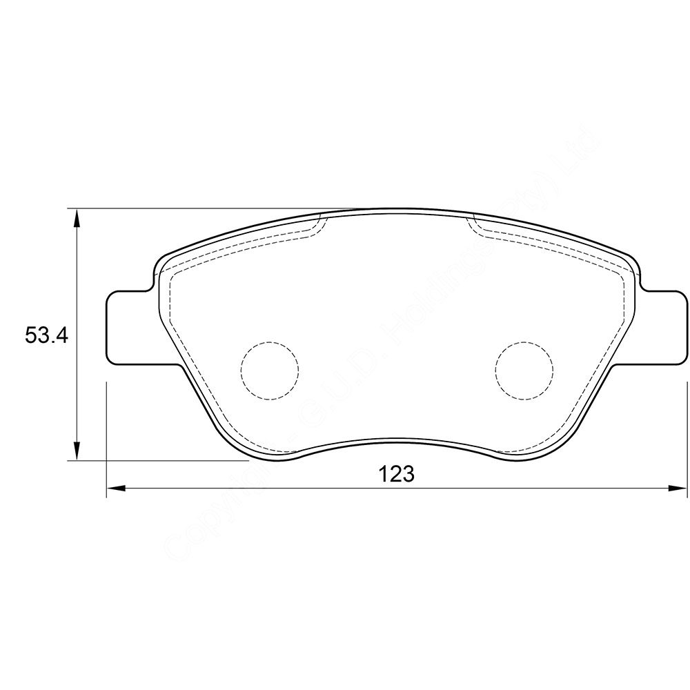 KBC Brake Pads (FRONT) for Proton 1