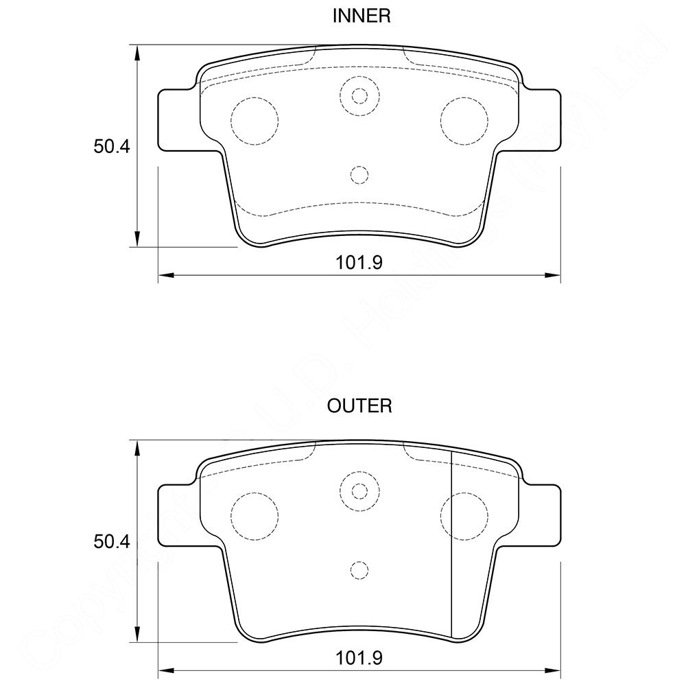 KBC Brake Pads (REAR) for Proton 1
