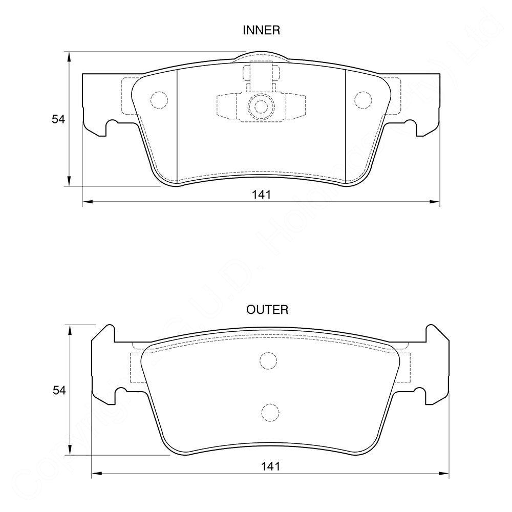 KBC Brake Pads (REAR) for Vw Touareg mk1 D3805 1