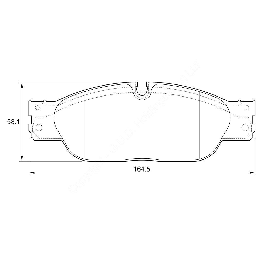 KBC Brake Pads (FRONT) for Jaguar 1