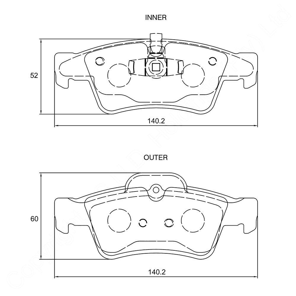 KBC Brake Pads (REAR) for Mercedes BenZ 1