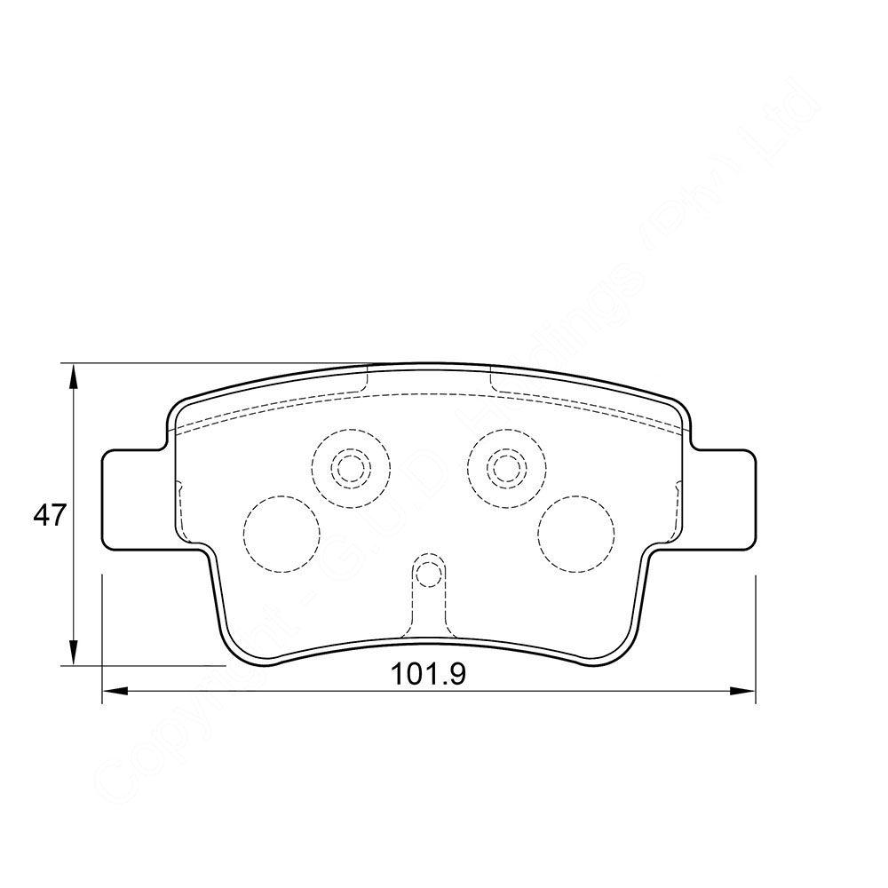 KBC Brake Pads (REAR) for Fiat 1
