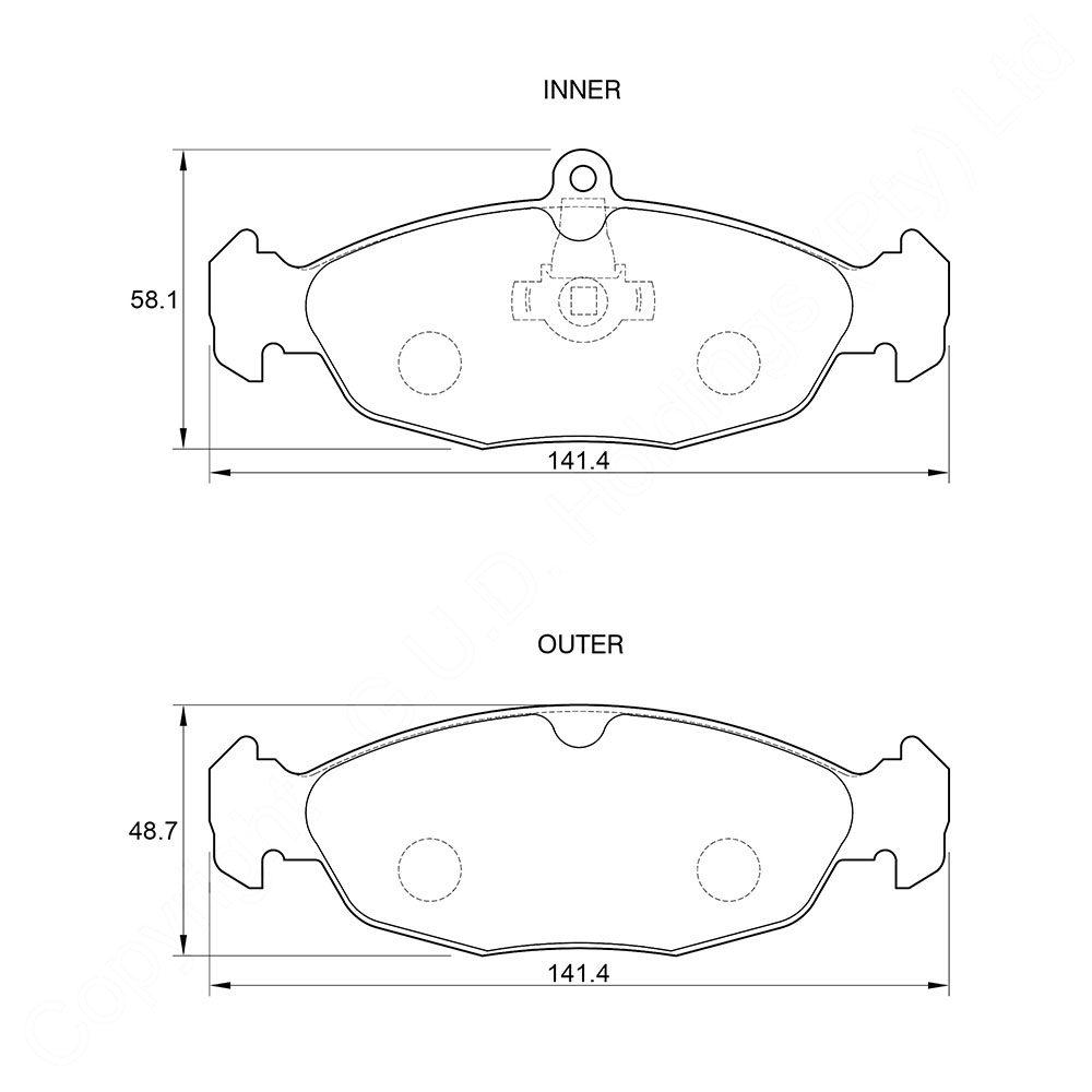 KBC Brake Pads (REAR) for Jaguar 1