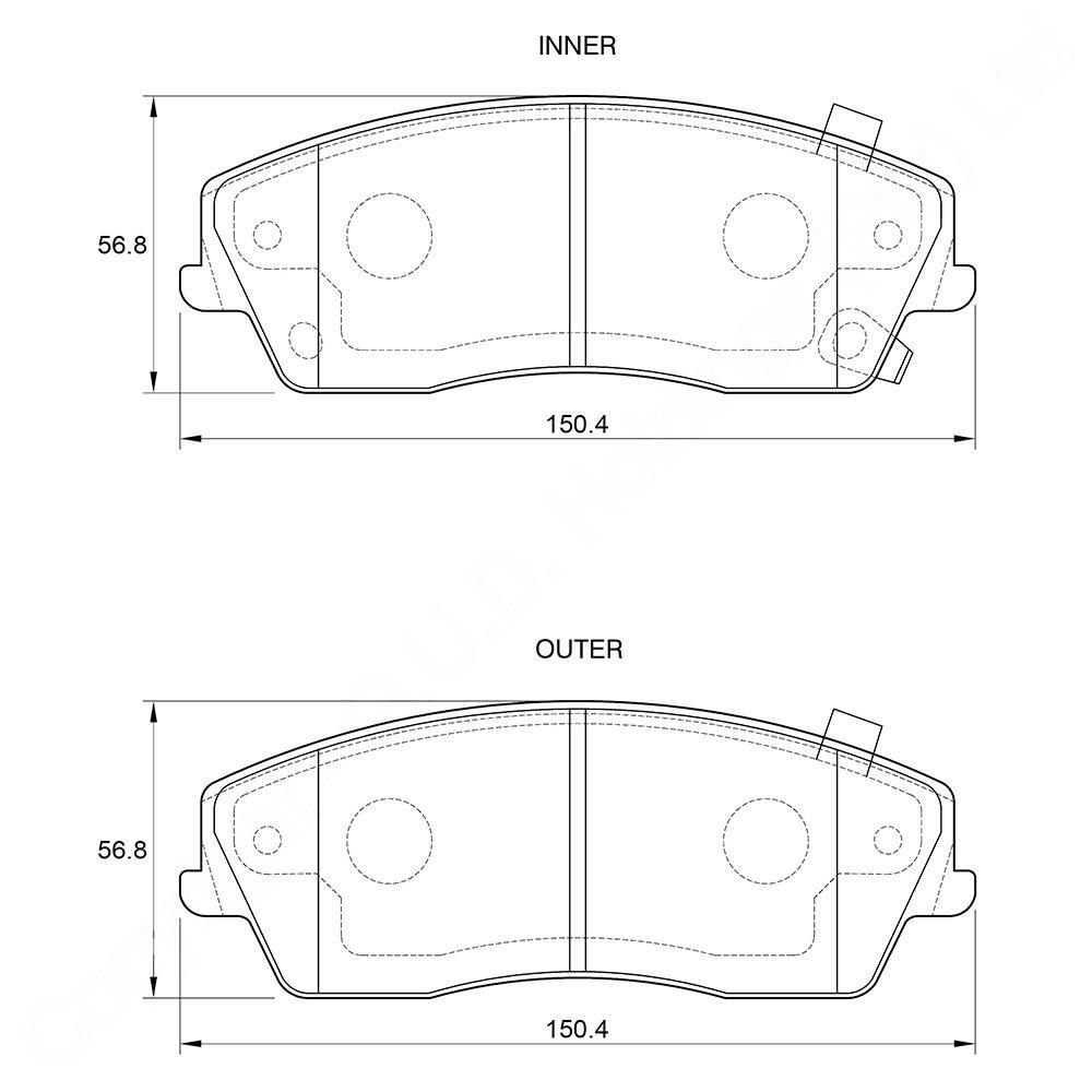 KBC Brake Pads (FRONT) for Chrysler 1