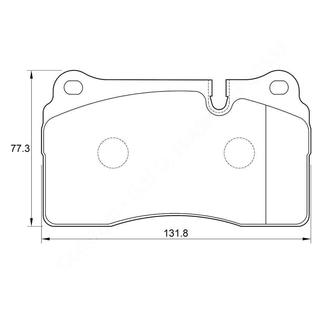 KBC Brake Pads (FRONT) for Range 1